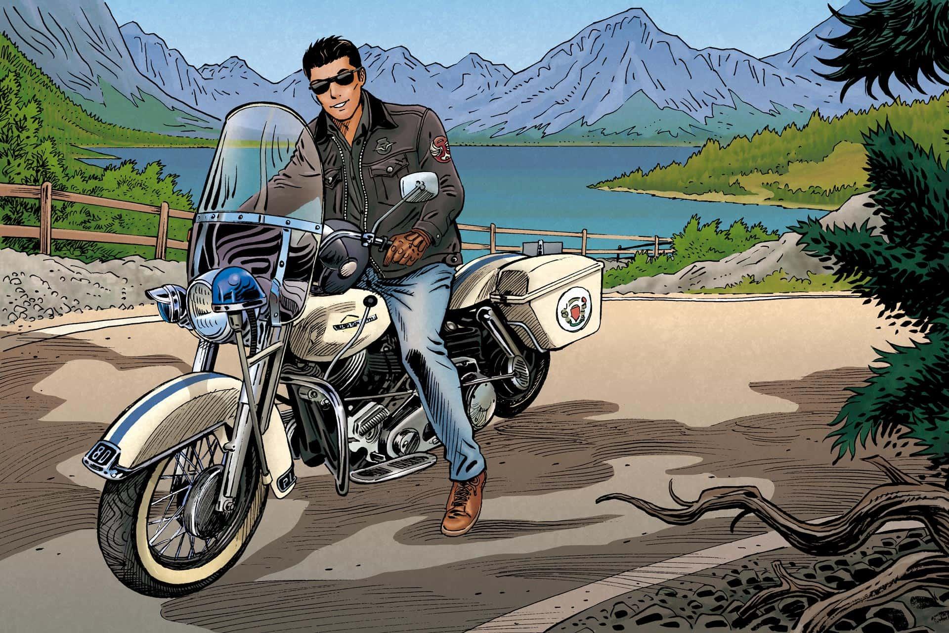 Jack V en Harley Davidson pour Vander Haeghen VDH