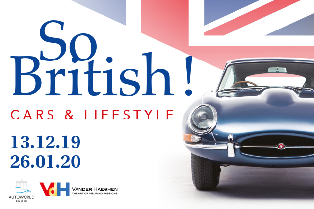Wedstrijd expositie Autoworld « So British ! Cars & Lifestyle »