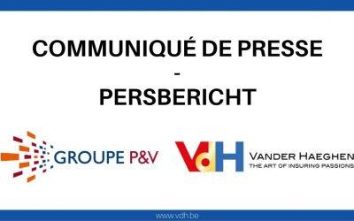 Persbericht: De verzekeringsgroep P&V en Vander Haeghen & C° slaan de handen in elkaar